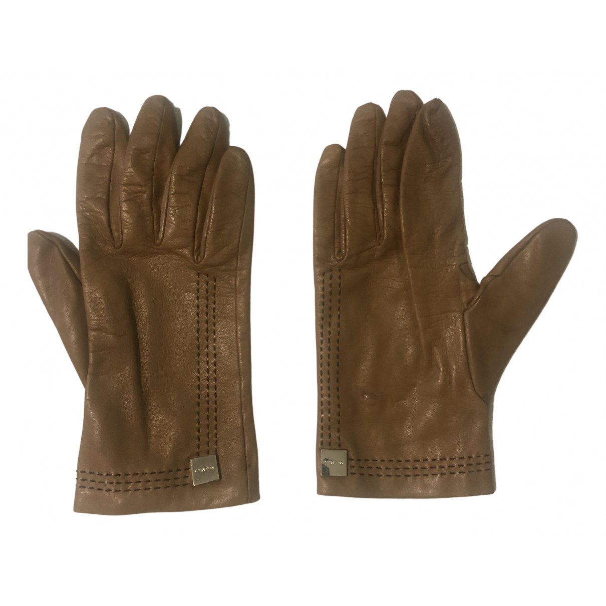 Max Mara \N Handschuhe in  Kamel Leder