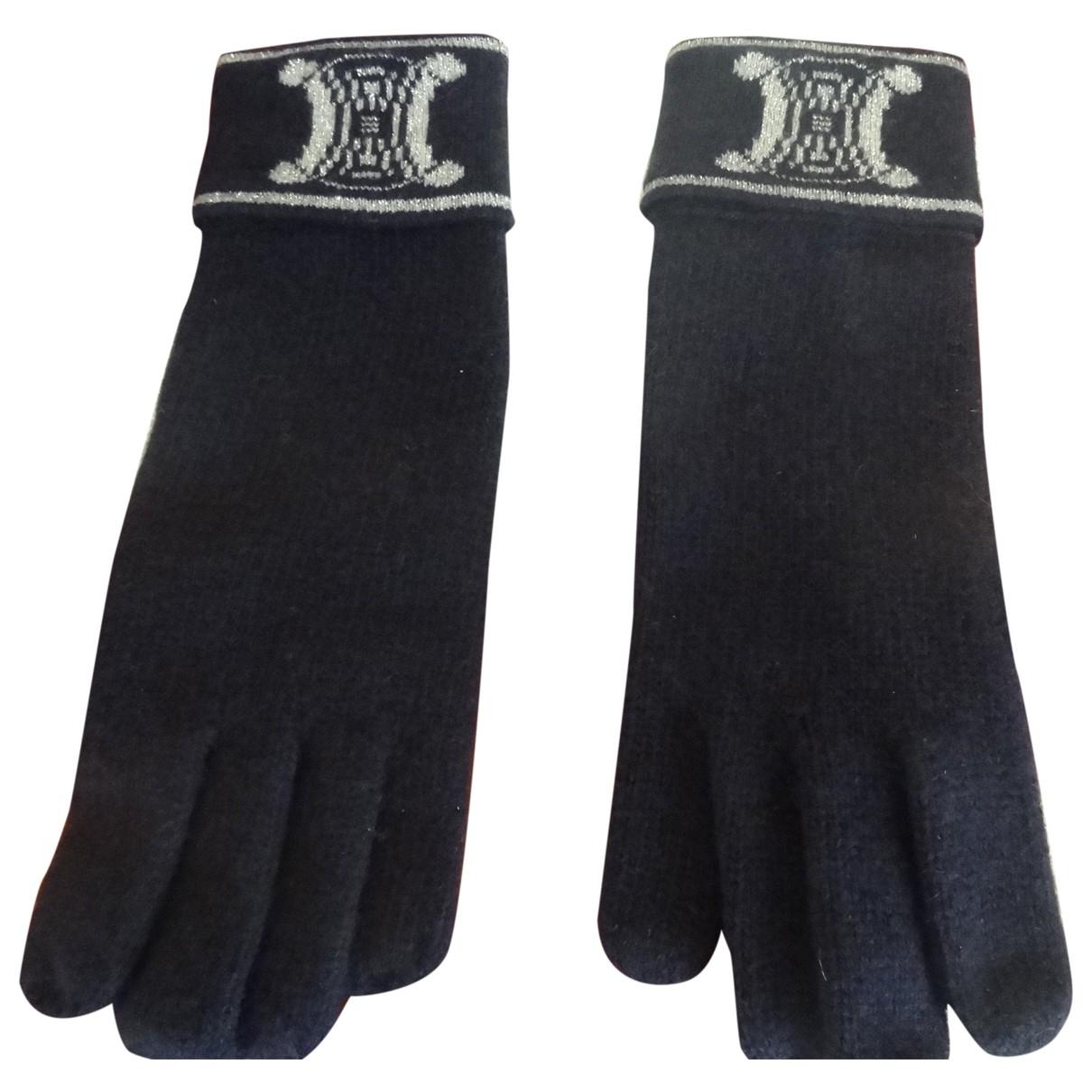 Celine \N Handschuhe in  Blau Kaschmir