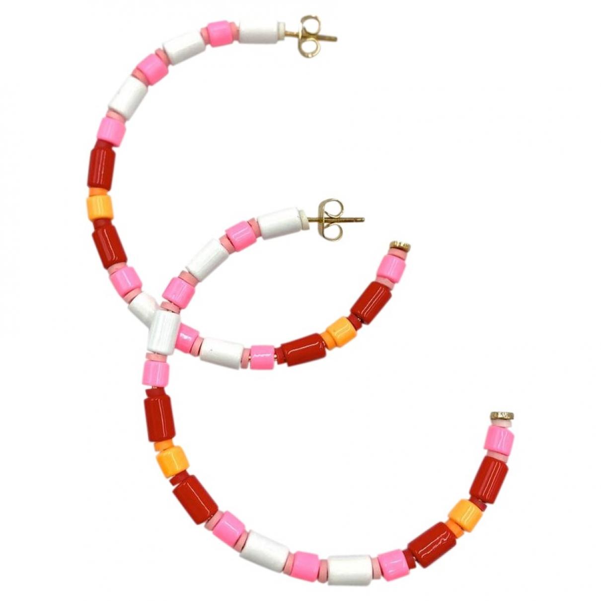 Roxanne Assoulin - Boucles doreilles   pour femme en metal - rose