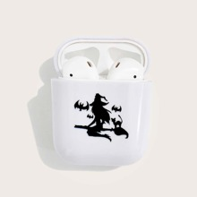 Airpods Schutzhuelle mit Halloween Hexe Muster