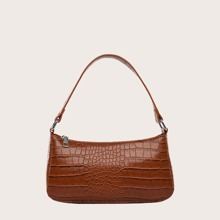 Crocodile Baguette Bag