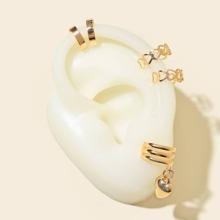 5 Stuecke Ohrringe mit Herzen Dekor