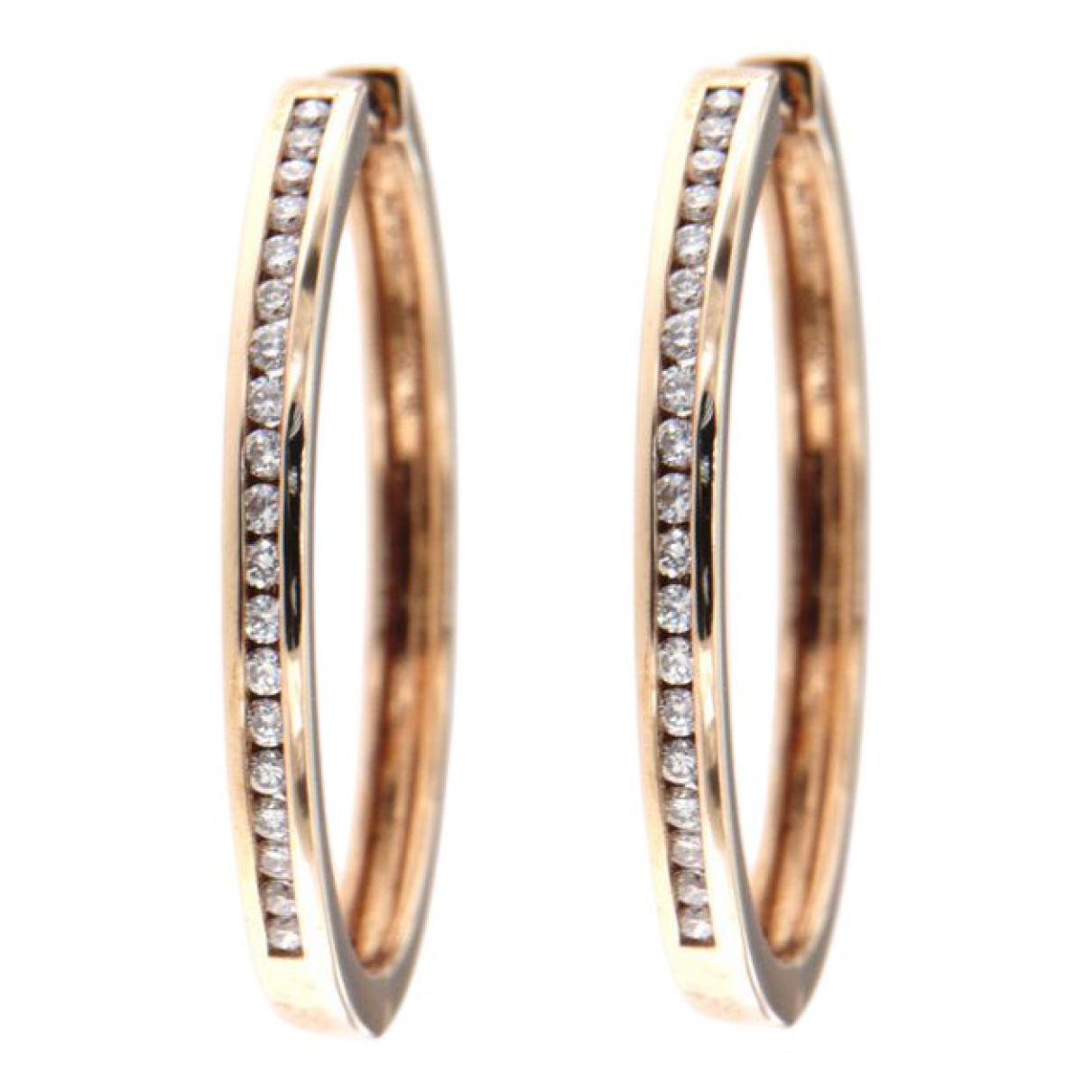 Non Signe / Unsigned \N OhrRing in  Rosa Rosegold