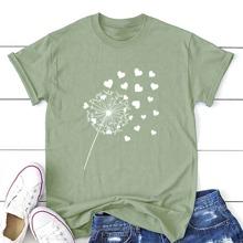 T-Shirt mit Lowenzahn & Herzen Muster