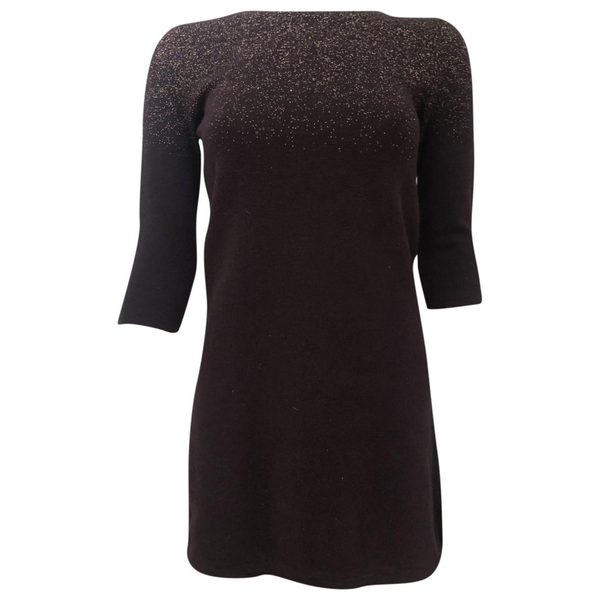 Sessun - Robe   pour femme en laine - bordeaux