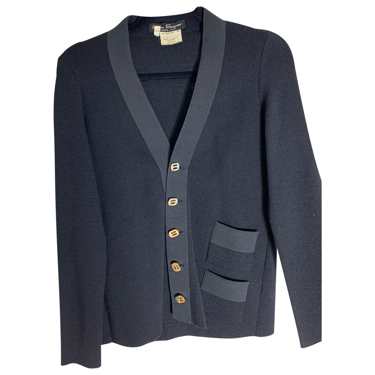 Salvatore Ferragamo \N Black Wool Knitwear for Women M International
