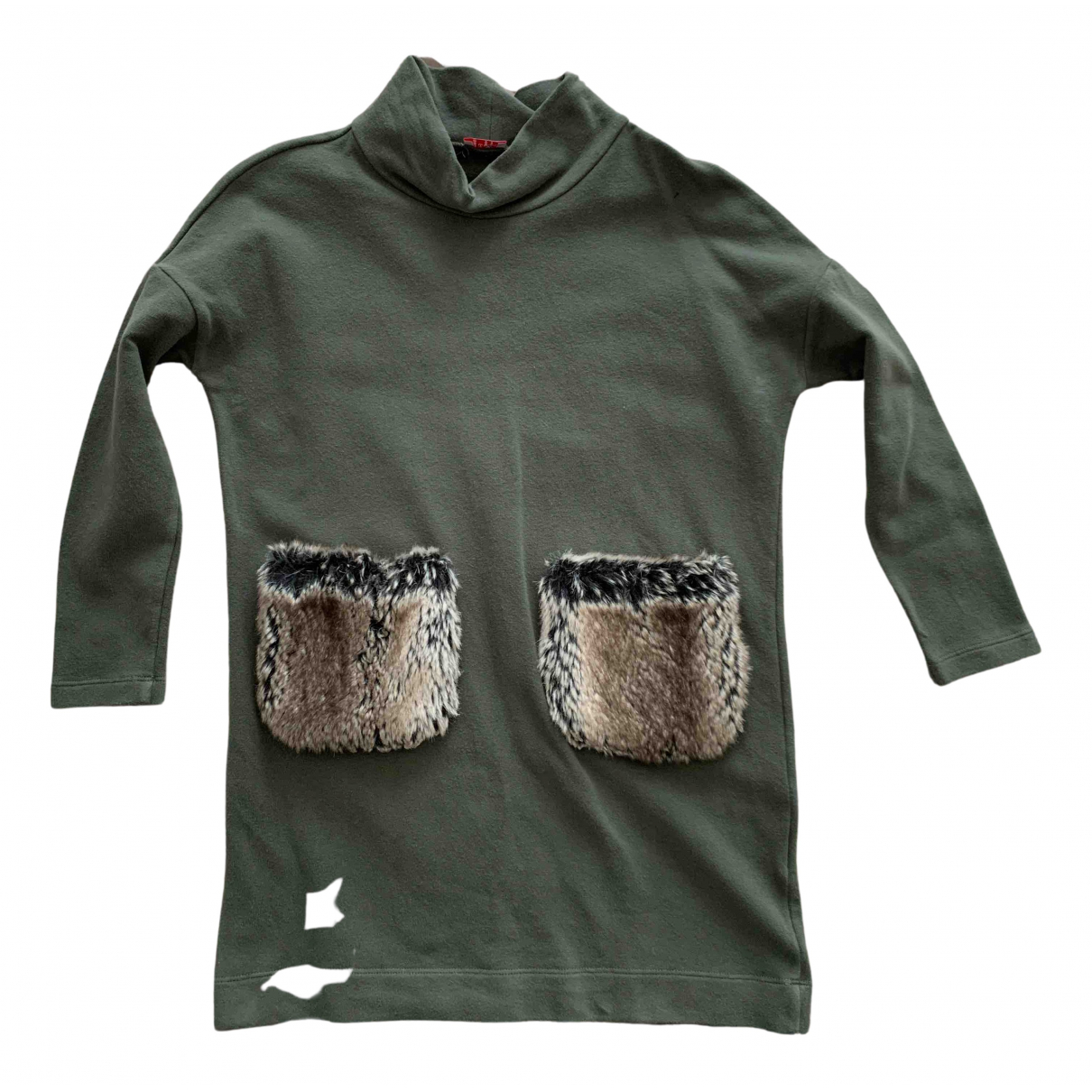 Il Gufo - Robe    pour enfant en coton - kaki