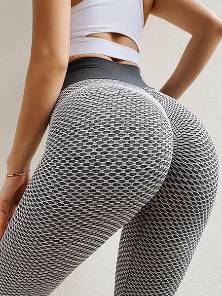 Milanoo Yoga Pants Polyester Net Yoga Leggings