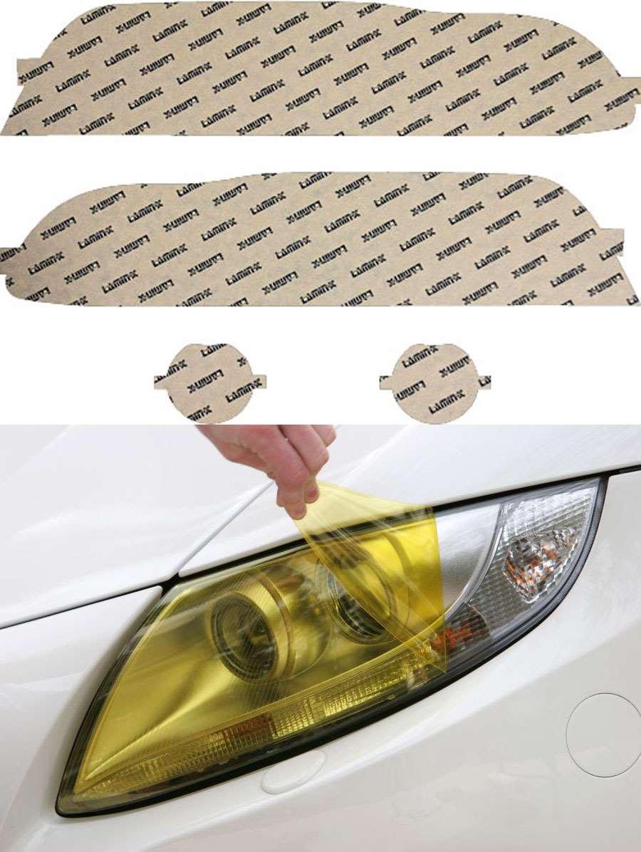 BMW 5-Series 01-03 Yellow Headlight Covers Lamin-X B028Y