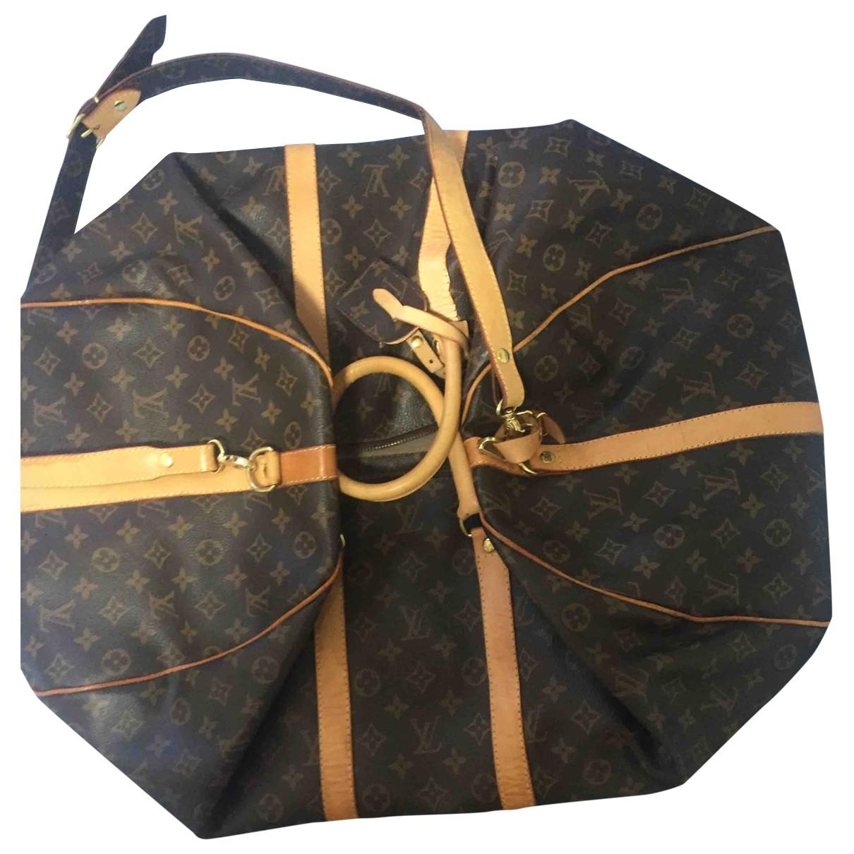 Louis Vuitton - Sac de voyage Keepall pour femme en toile