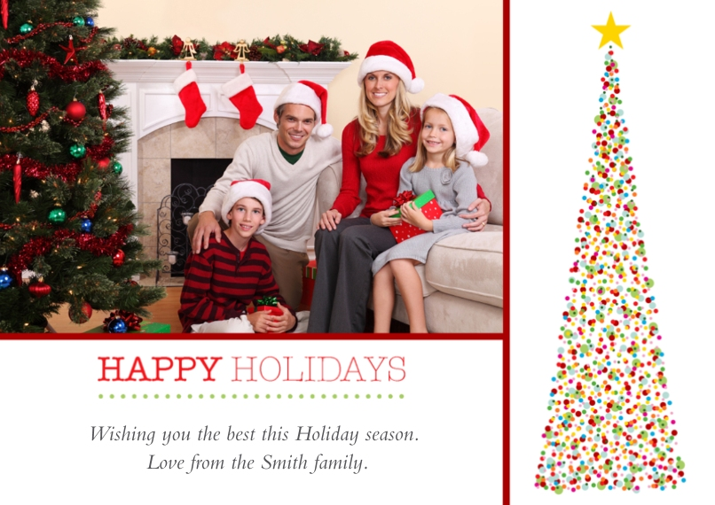 Christmas Photo Cards Mail-for-Me Premium 5x7 Flat Card, Card & Stationery -Dazzling Tree