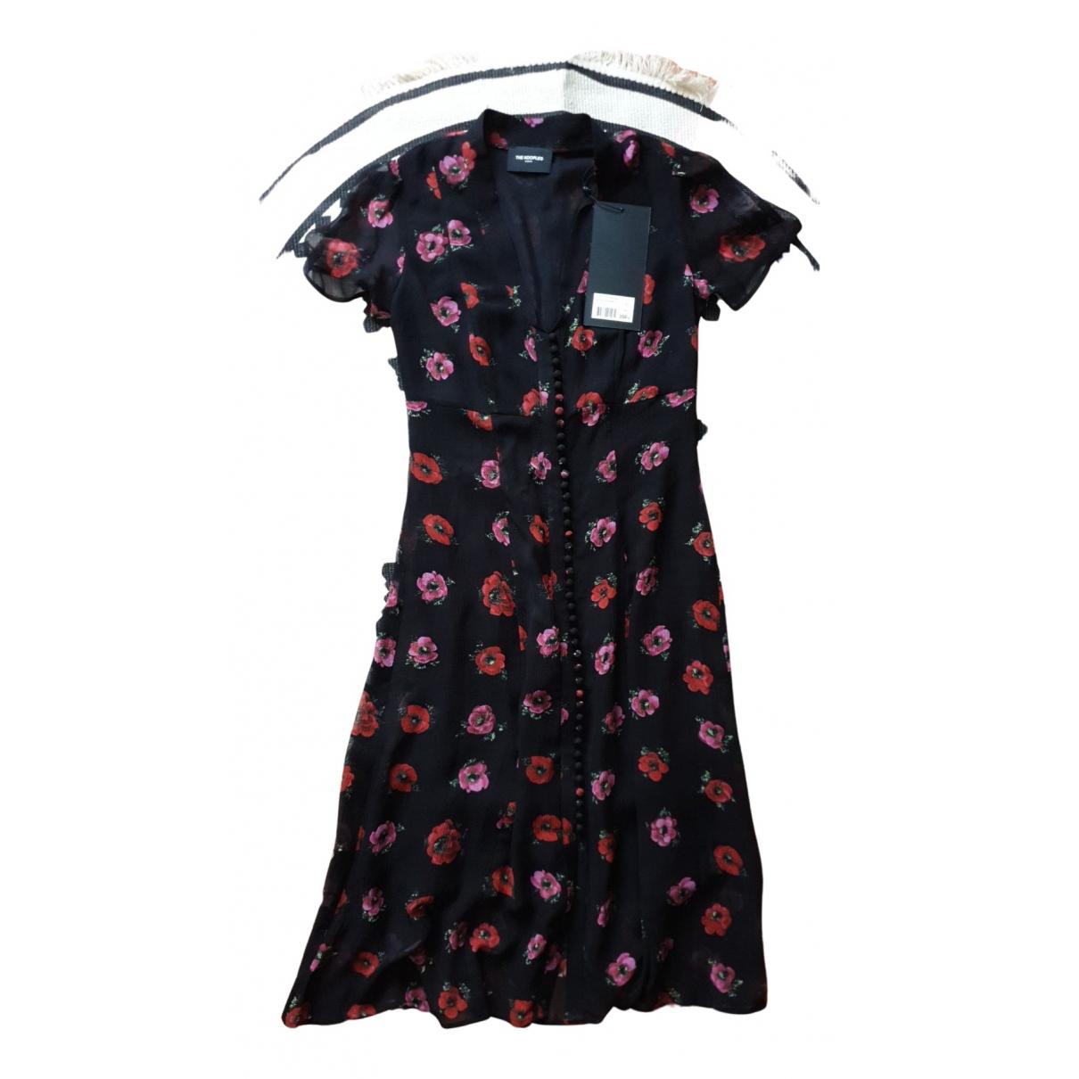 The Kooples Spring Summer 2019 Black Silk dress for Women 36 FR