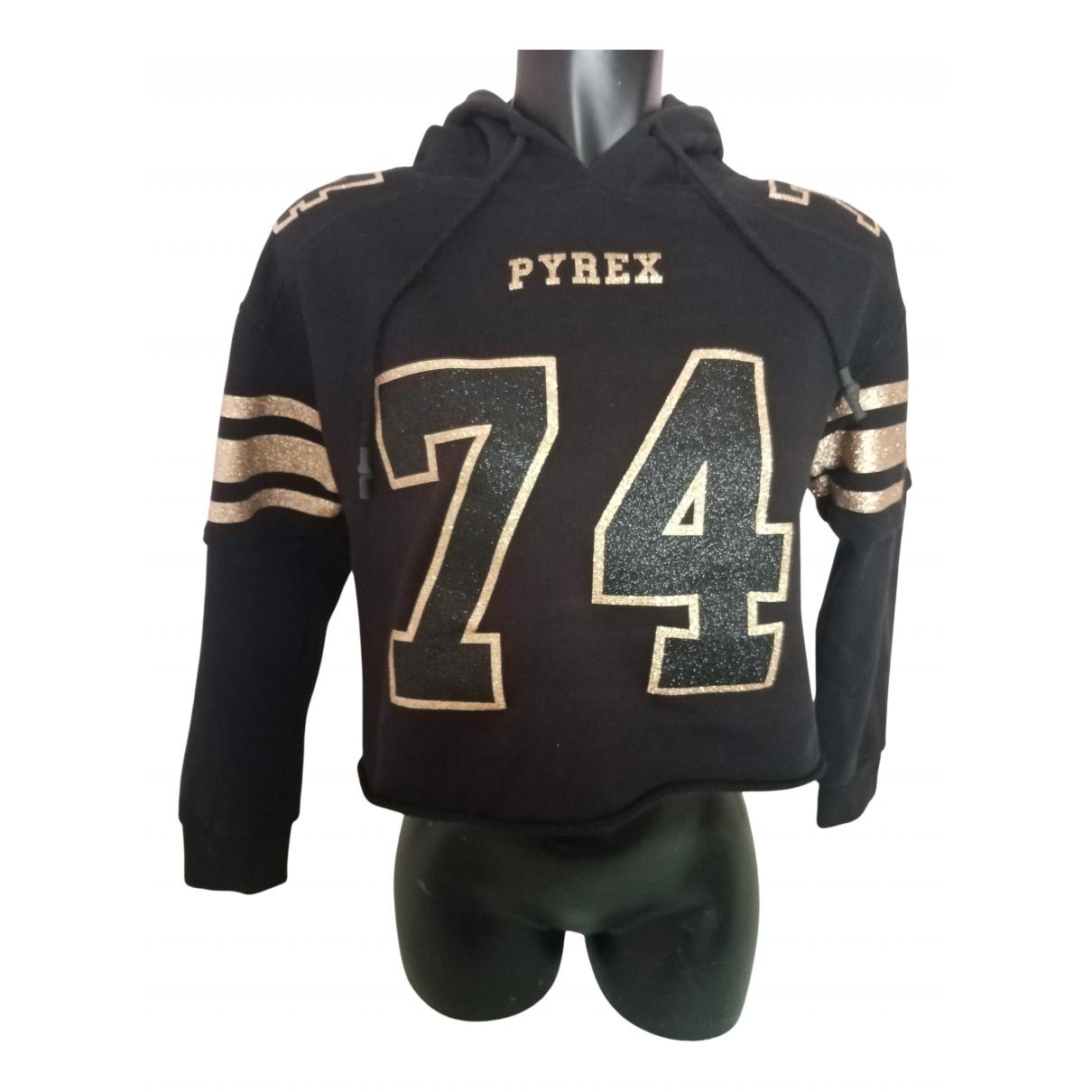 Pyrex - Pull   pour femme en coton - noir