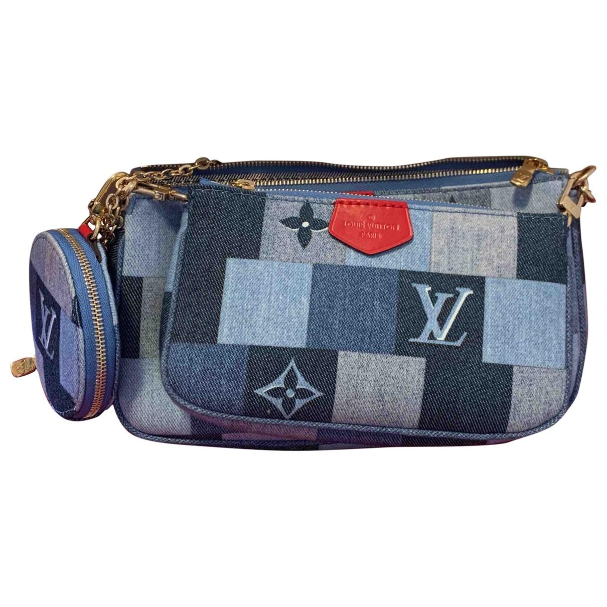 Louis Vuitton Multi Pochette Access Clutch in  Blau Denim - Jeans