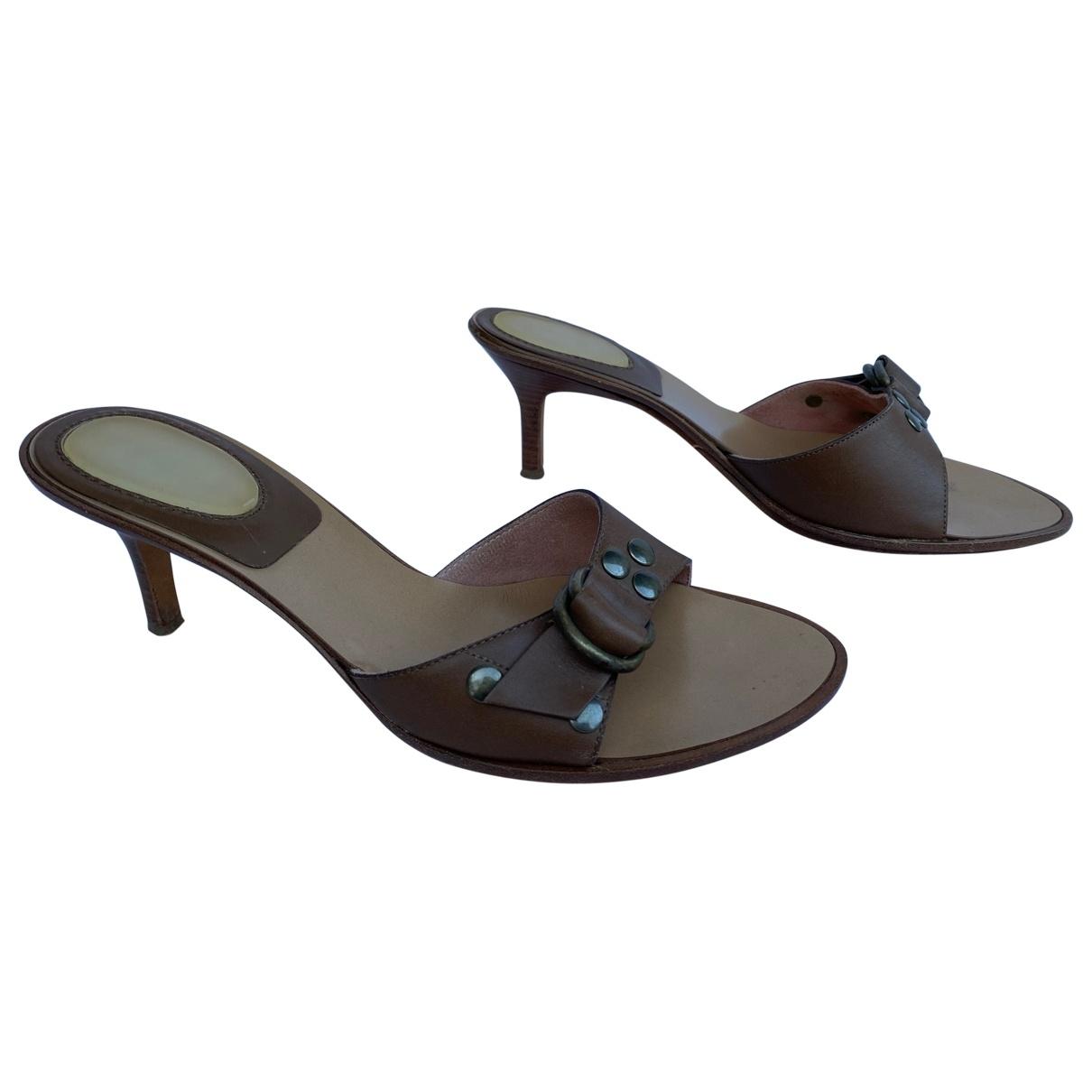 Casadei - Sandales   pour femme en cuir - marron