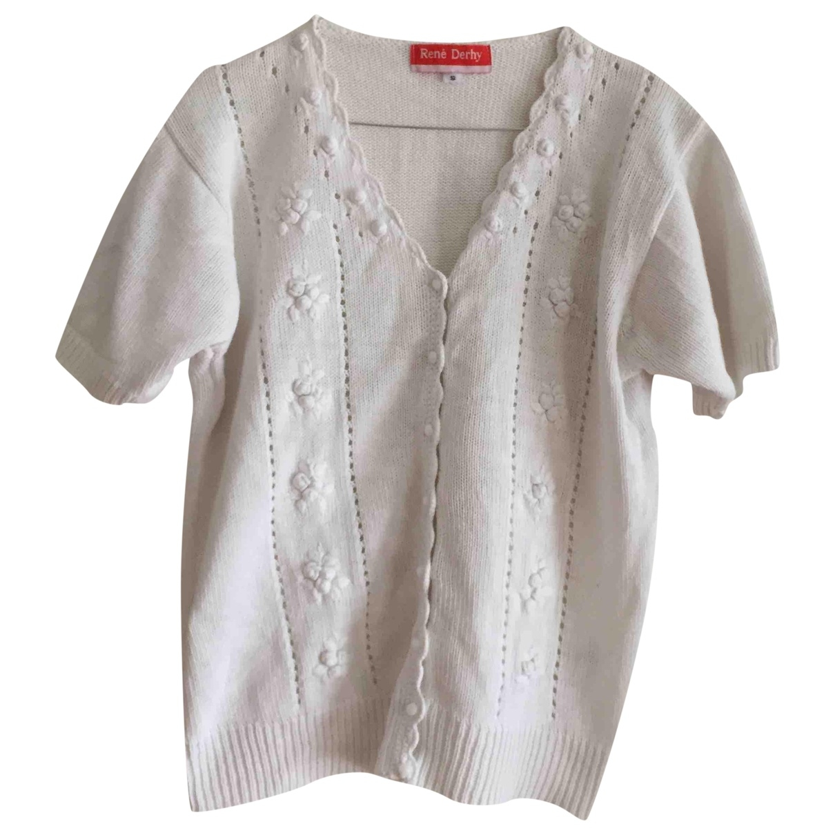Non Signé / Unsigned \N White Cotton Knitwear for Women 40 FR