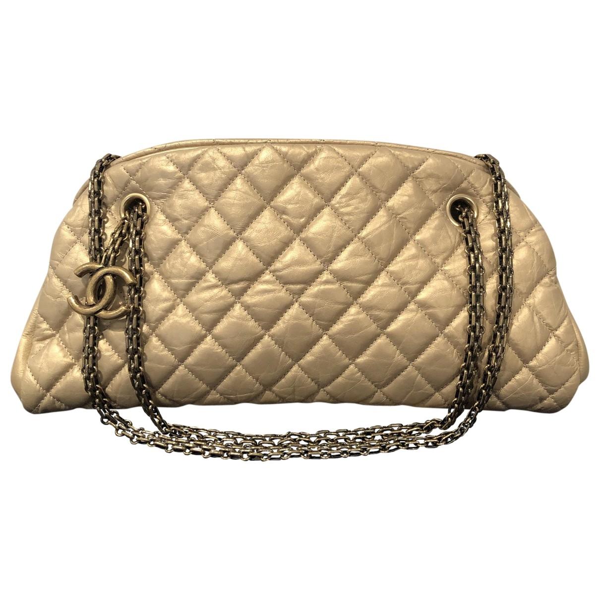 Chanel Mademoiselle Handtasche in  Gold Leder