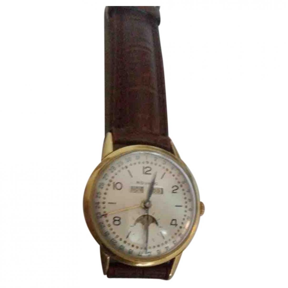 Movado \N Uhr in  Braun Gelbgold