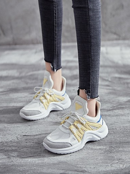 Yoins Fantasy Colour Lace Up Sporty Sneakers