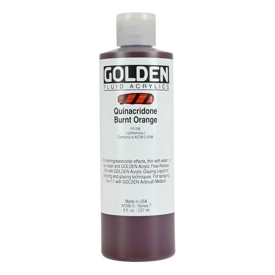 Golden® Fluid Acrylics 8 oz Paint in Quinacridone Burnt Orange | Michaels®