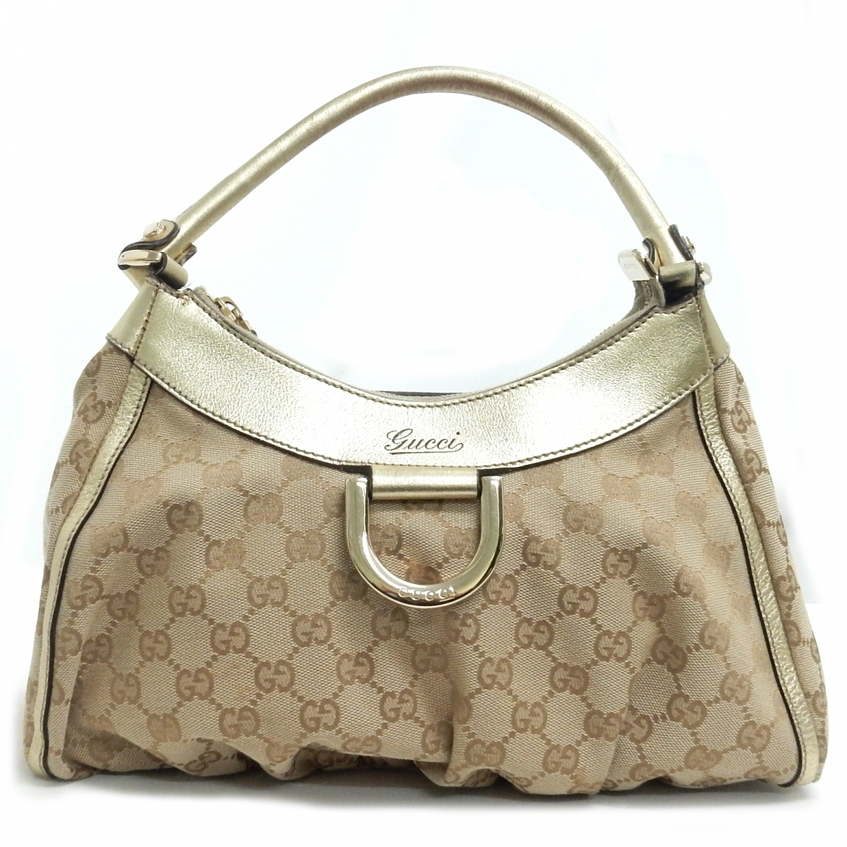 Gucci \N Handtasche in  Gold Leinen