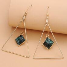 Ohrringe mit Dreieck Design