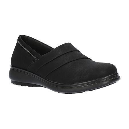 Easy Street Womens Maybell Slip-On Shoe, 6 1/2 Medium, Black