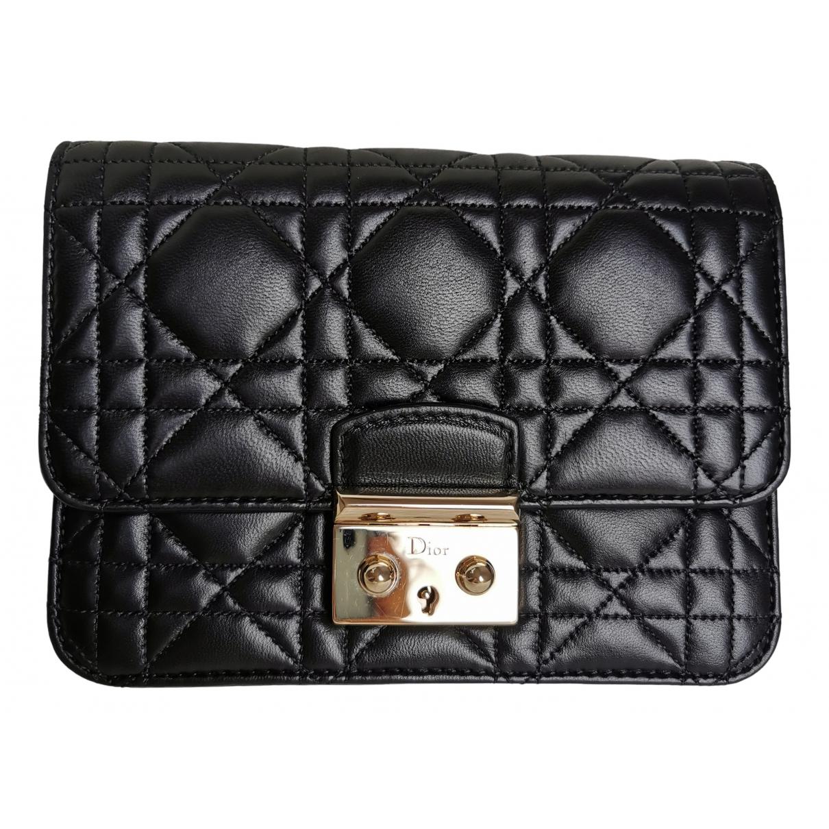 Dior - Pochette Miss Dior pour femme en cuir - noir