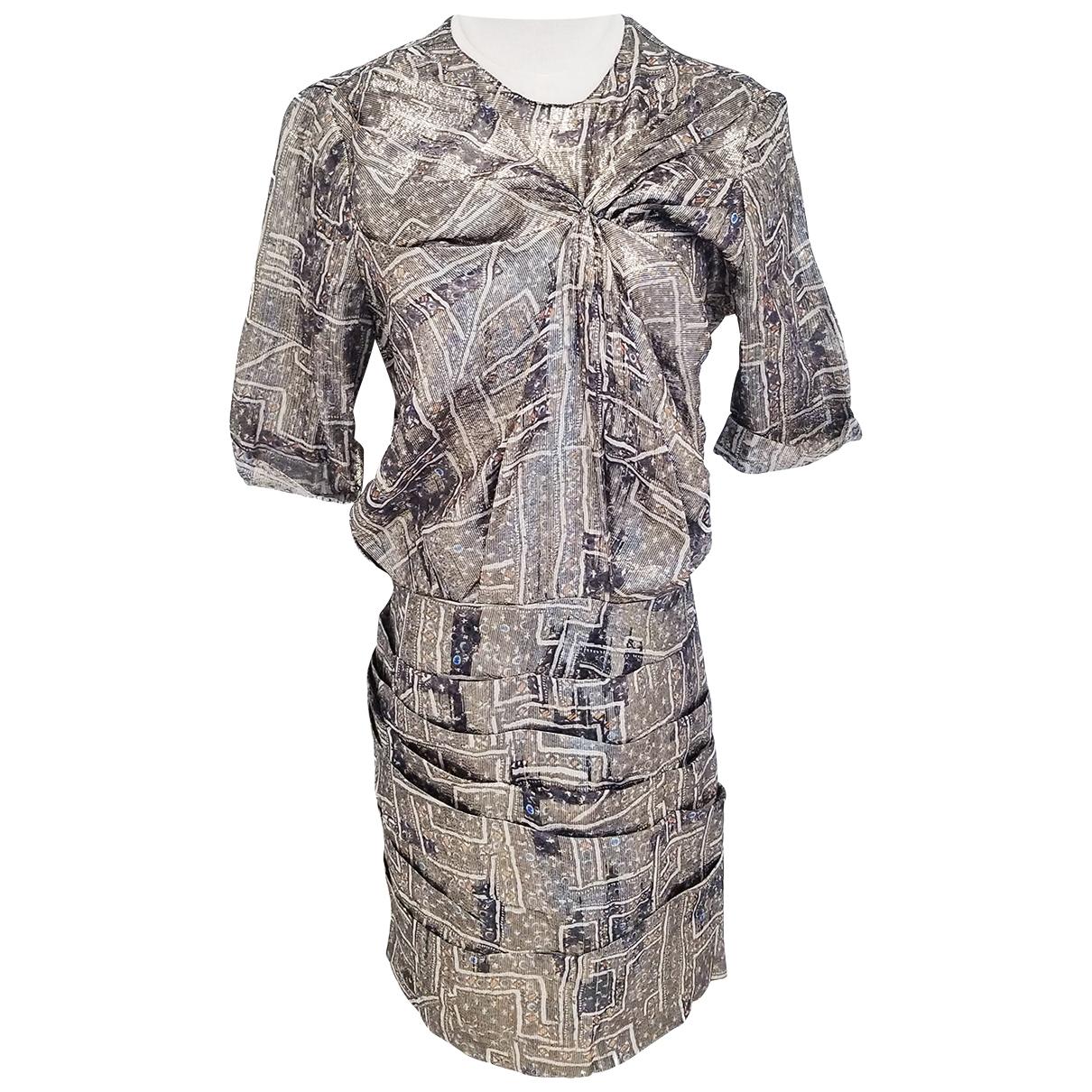 Isabel Marant Pour H&m - Robe   pour femme en soie - metallise