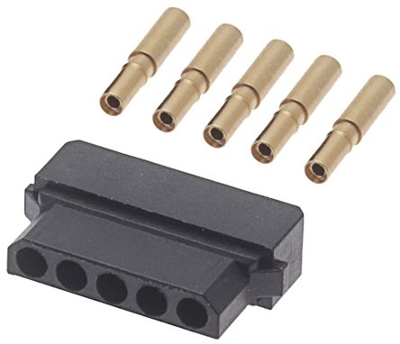 HARWIN Datamate Connector Kit Containing 5 way SIL Female Shell, Crimps