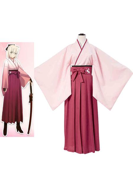Milanoo Fate Grand Order Sakura Saber Cosplay Costume Halloween