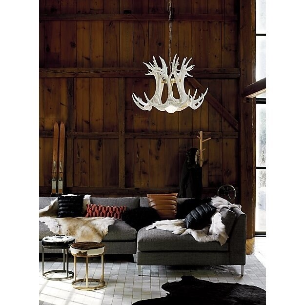 Lyon Cowhide Patchwork Rug (Off White 8' x 5')