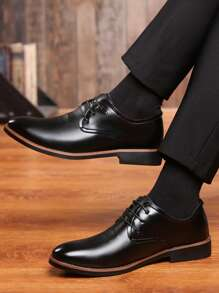 Guys Lace-up Front Dress Shoes