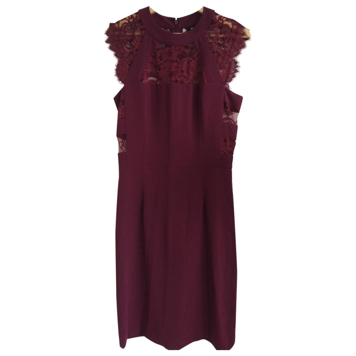 The Kooples - Robe   pour femme en coton - elasthane - bordeaux