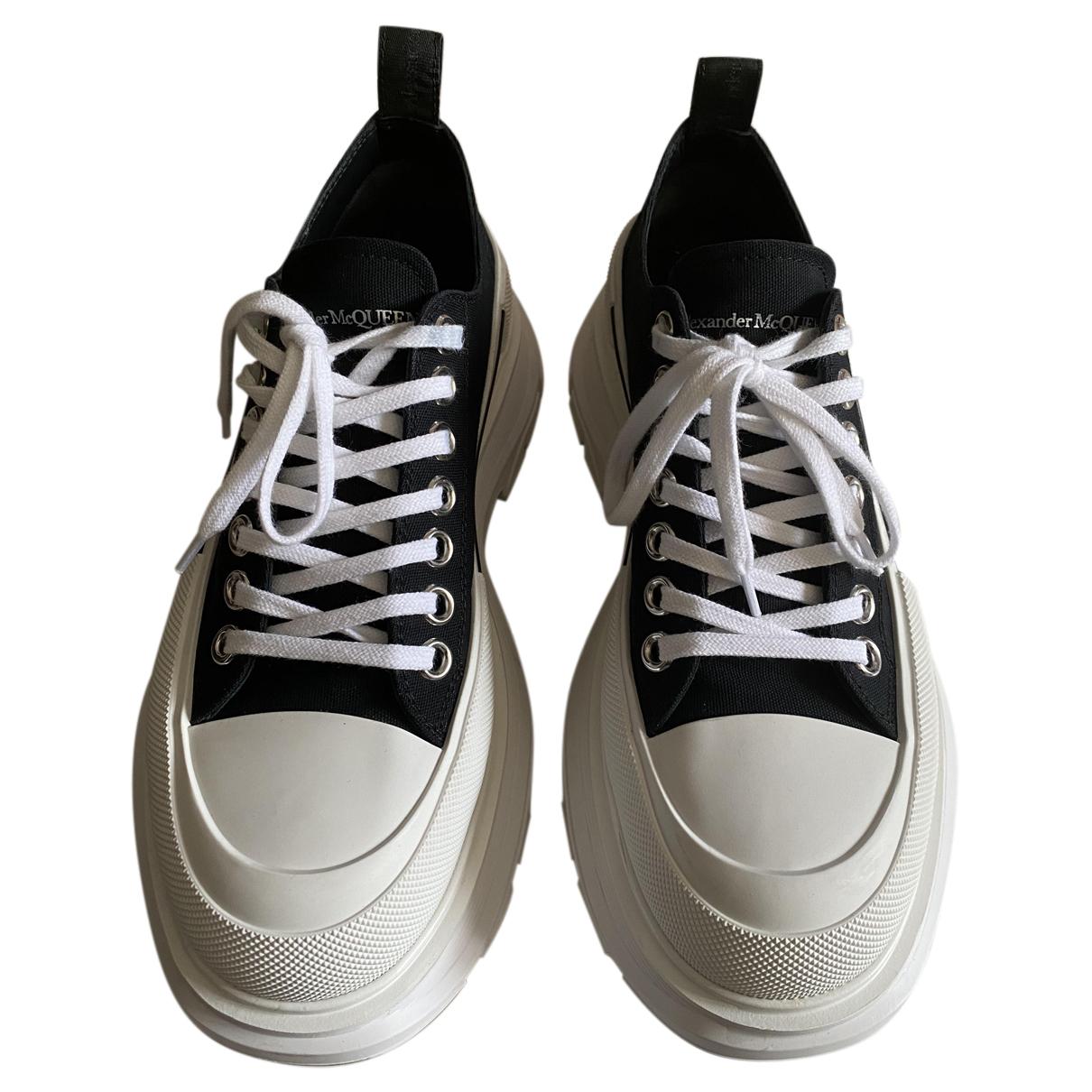 Alexander Mcqueen - Baskets   pour homme en toile - noir