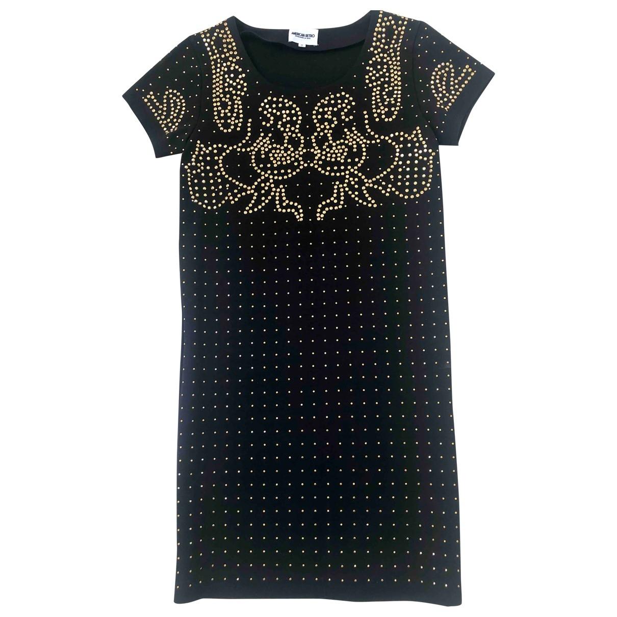 American Retro \N Kleid in  Schwarz Baumwolle