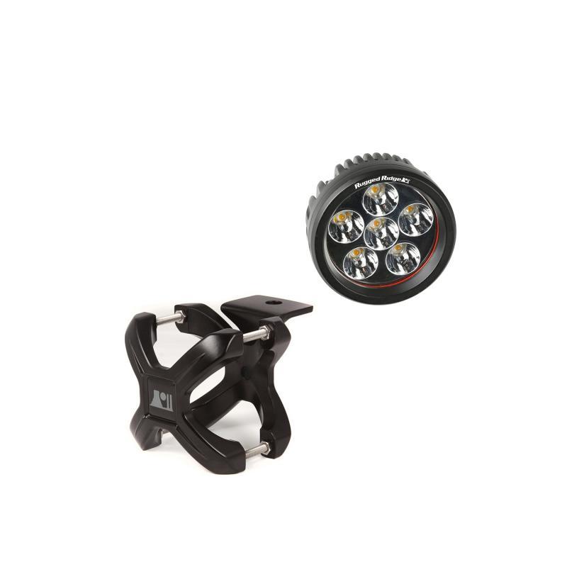 Rugged Ridge 15210.24 Light Kit, X-Clamp/Round LED, Small, Black, 1 Piece