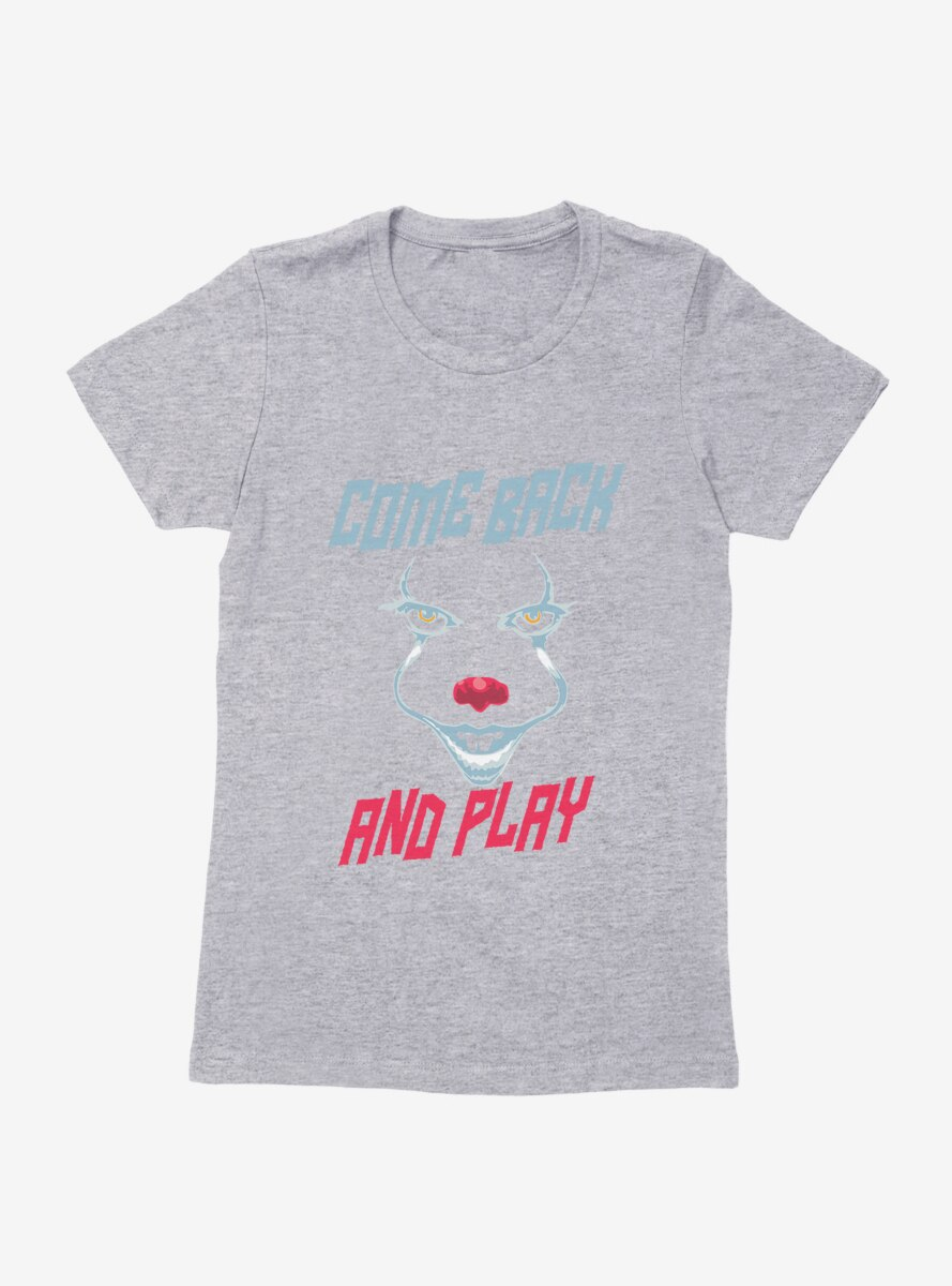 IT Chapter Two Come Back And Play Face Outline Womens T-Shirt