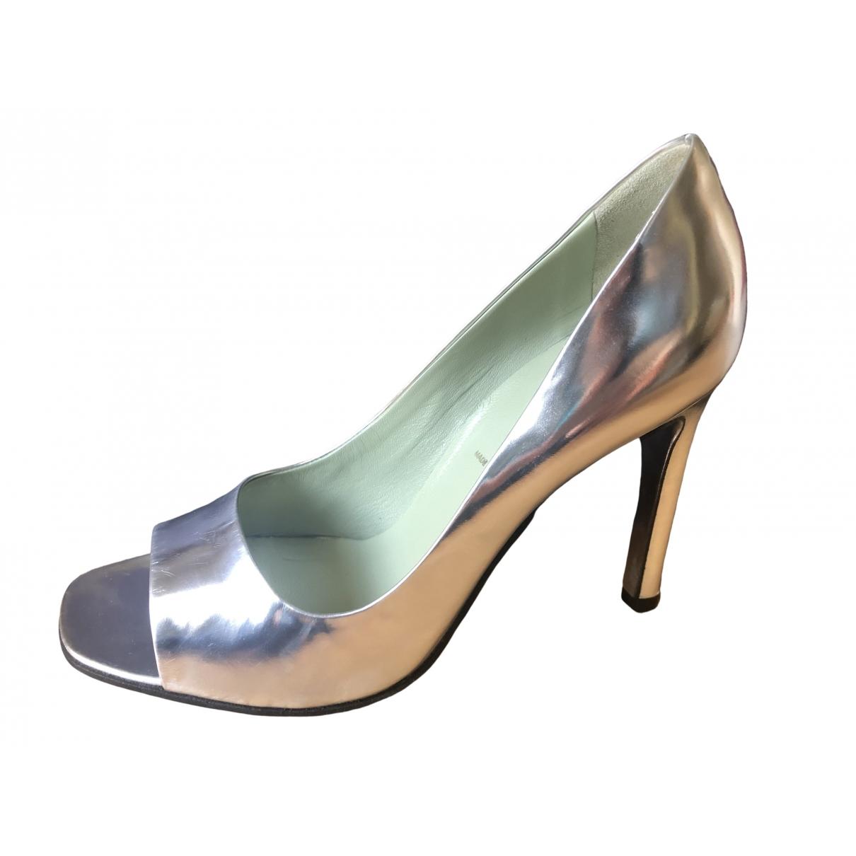 Prada \N Silver Patent leather Heels for Women 36 IT