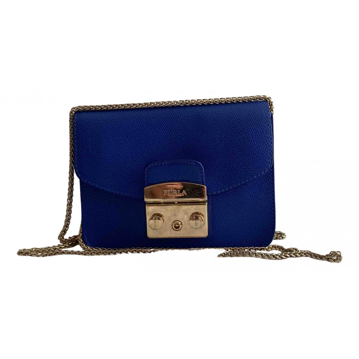 Furla Metropolis Navy Leather handbag for Women N