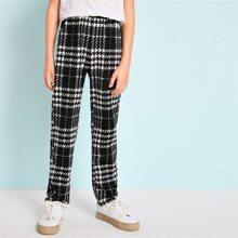 Boys Two Tone Plaid Pants