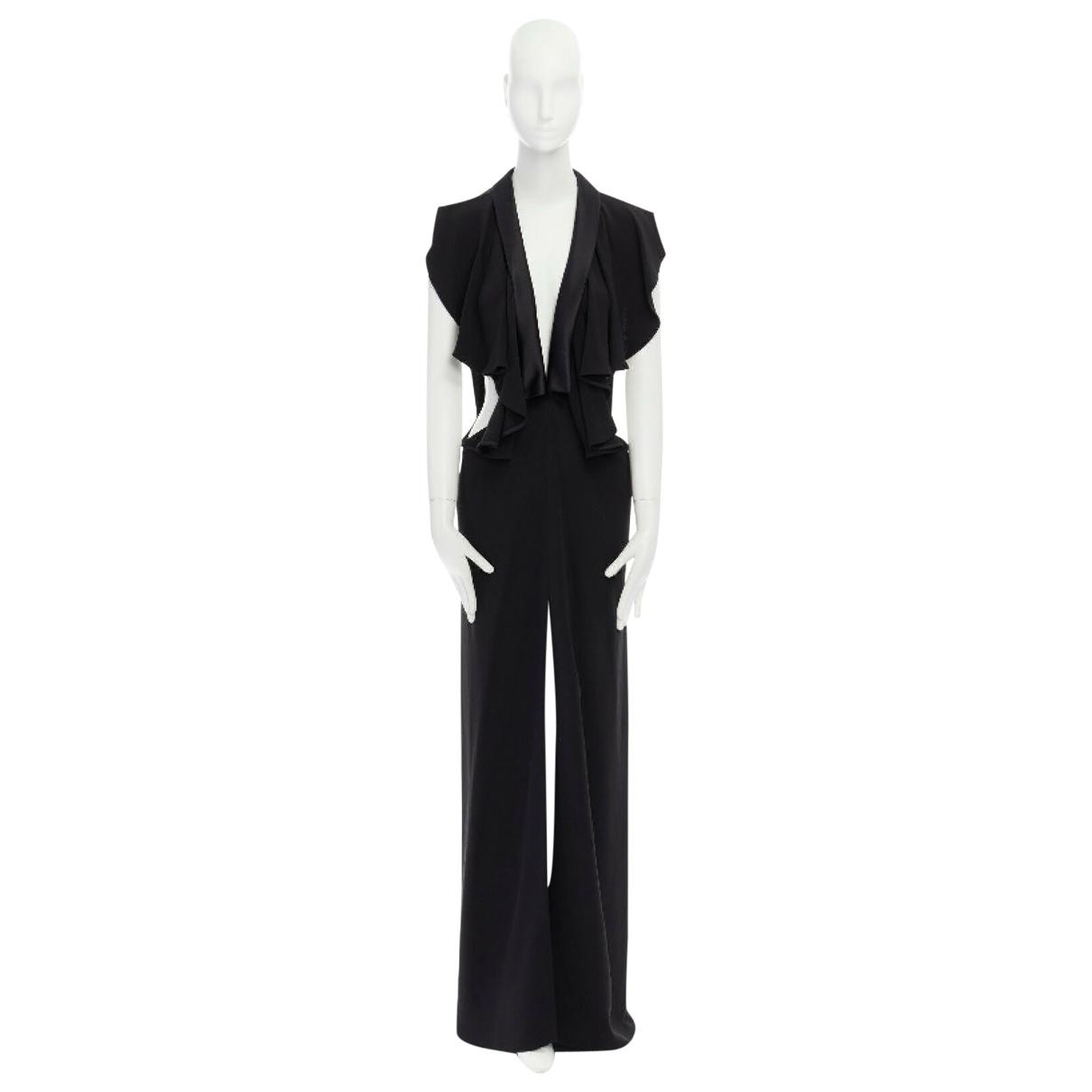 Yves Saint Laurent \N Black Silk jumpsuit for Women 36 FR