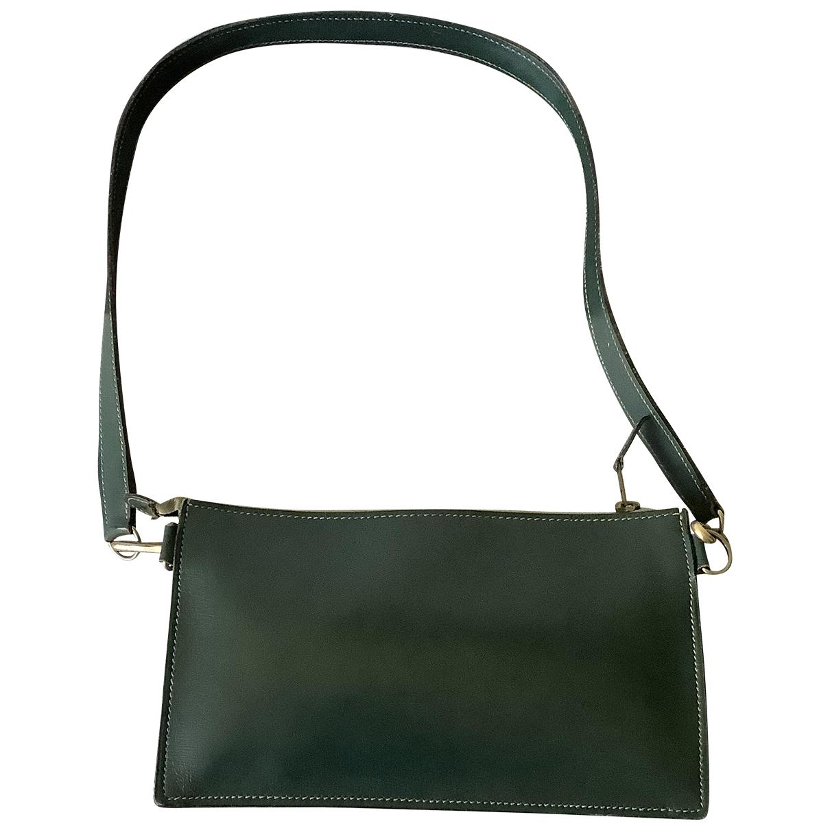 Hermes \N Handtasche in  Gruen Leder