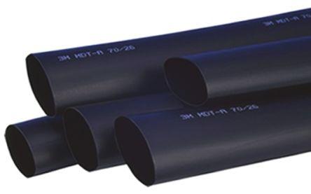 3M Adhesive Lined Heat Shrink Tubing, Black 50mm Sleeve Dia. x 1m Length 4.5:1 Ratio, MDT-A Series