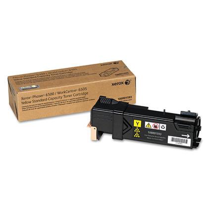 Xerox 106R01593 cartouche de toner originale jaune pour l'imprimante Phaser 6500 WorkCentre 6505