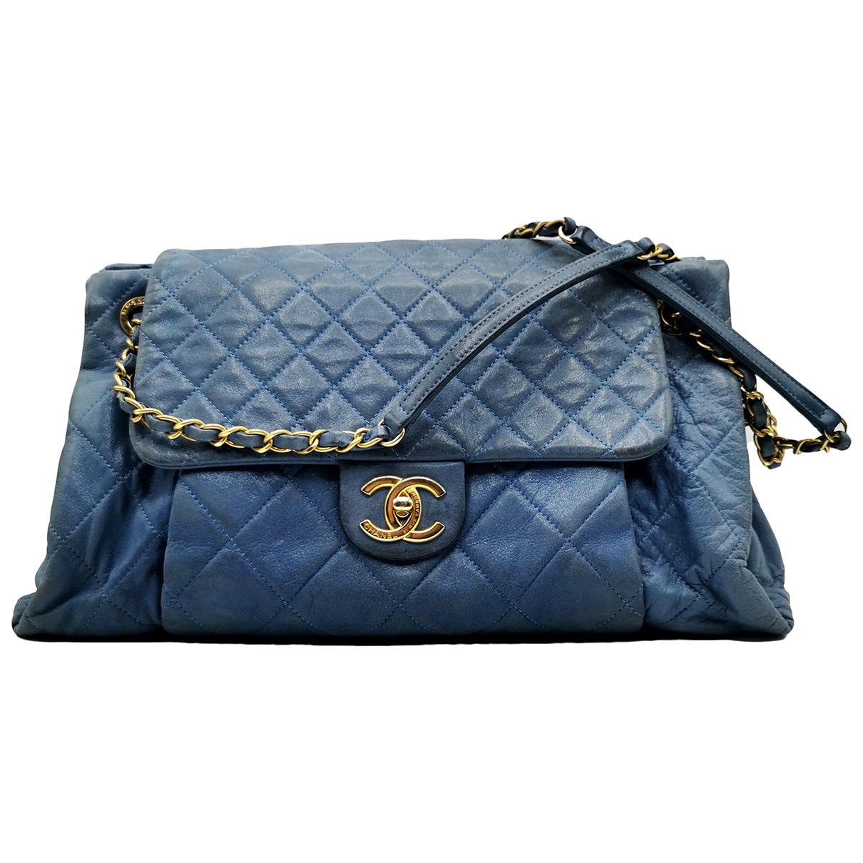 Chanel \N Blue Leather handbag for Women \N
