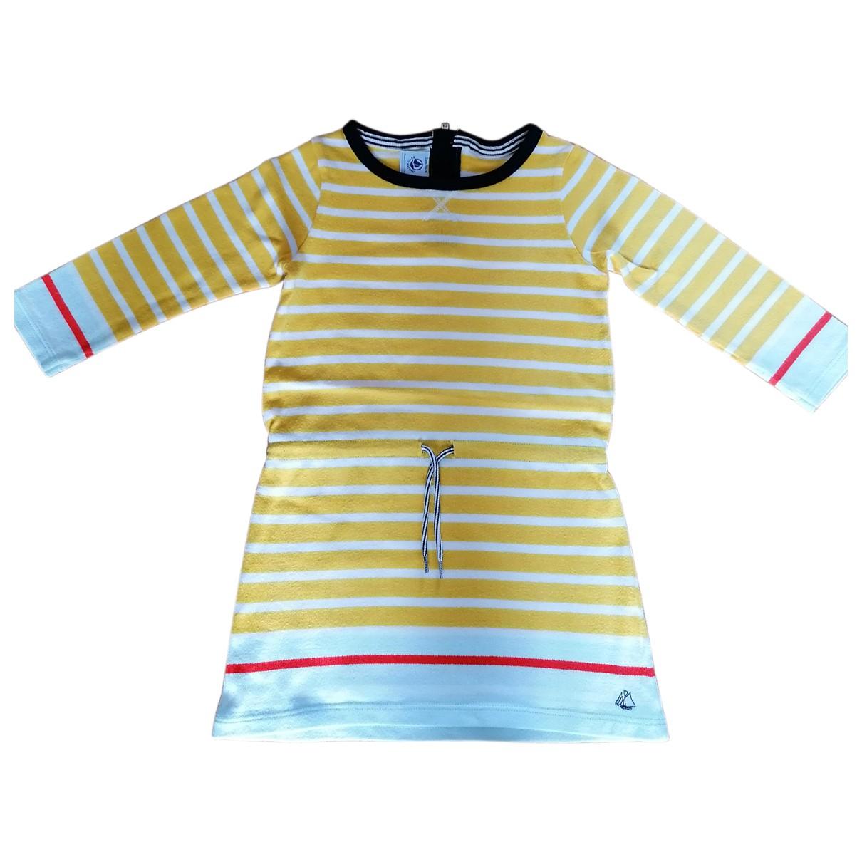 Petit Bateau \N Kleid in  Gelb Baumwolle