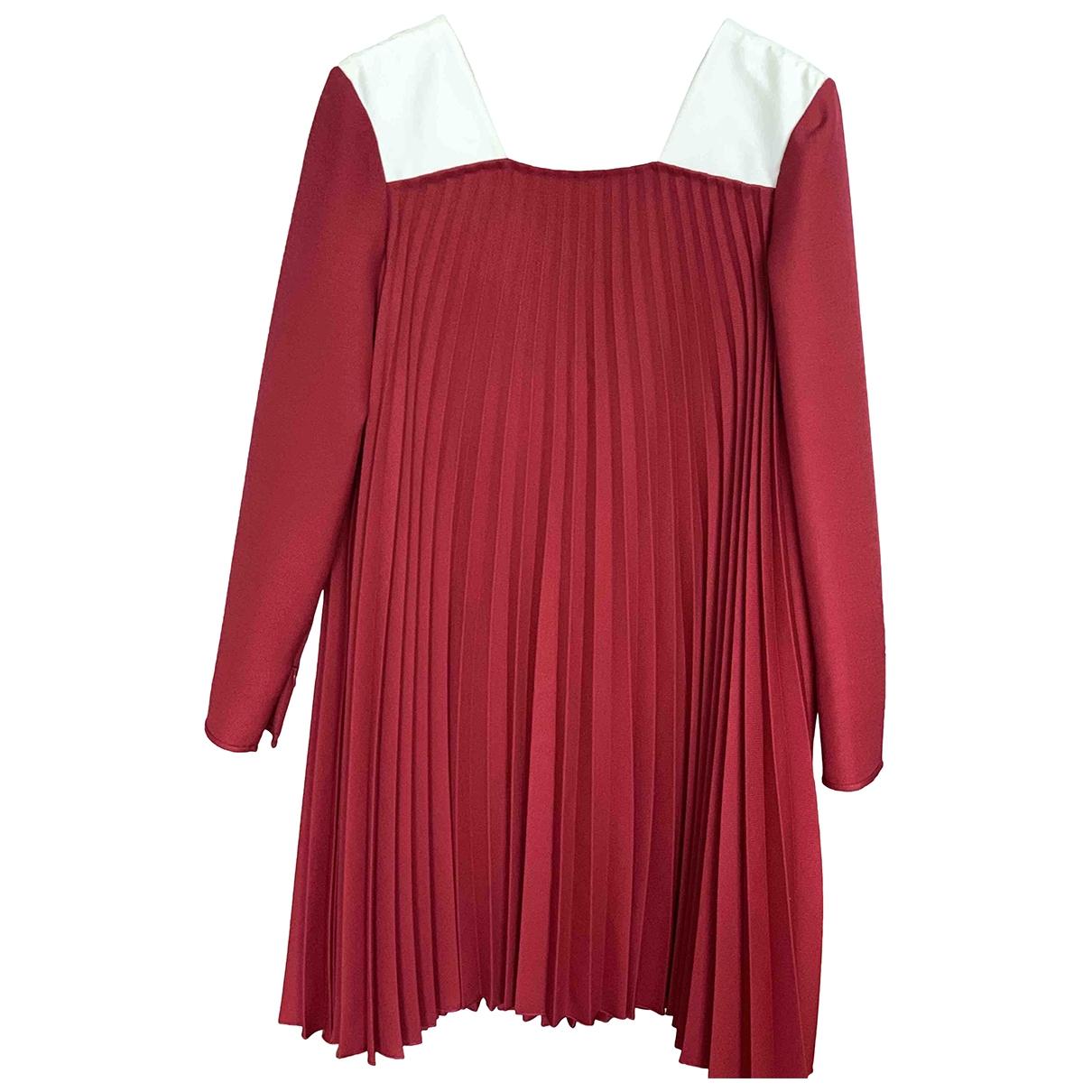 Valentino Garavani \N Kleid in  Rot Wolle