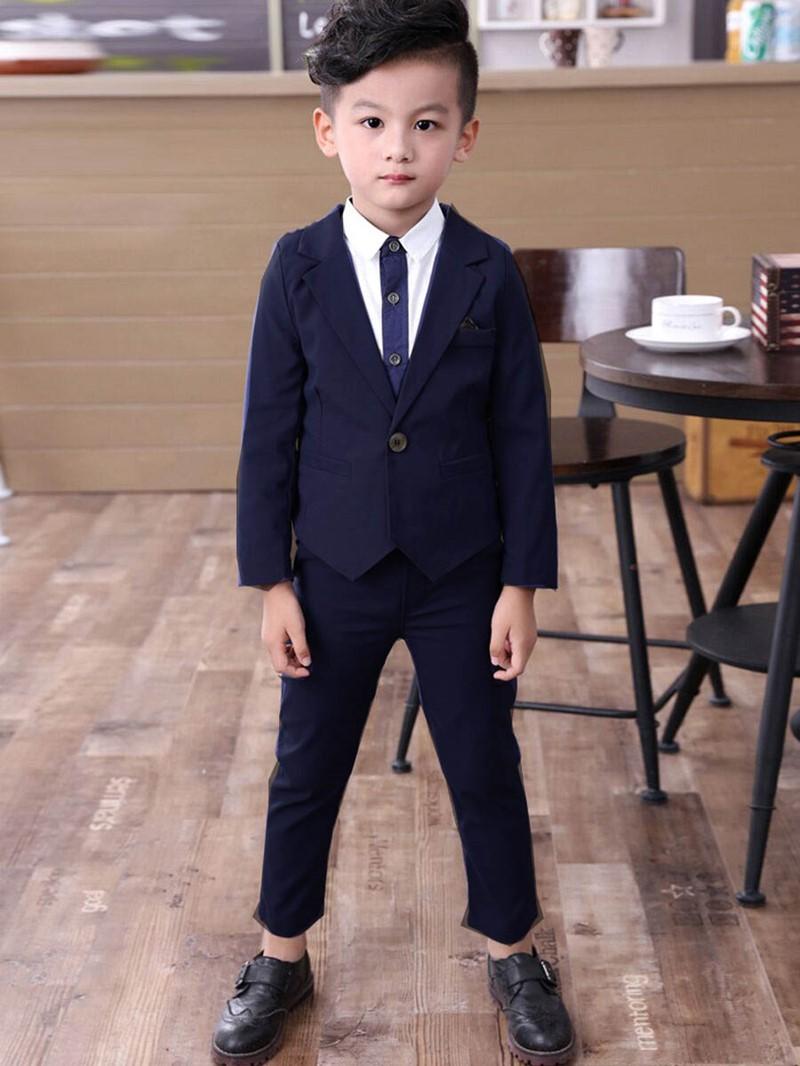 Ericdress Solid Color 2-Pcs Boys Dress Suit Set