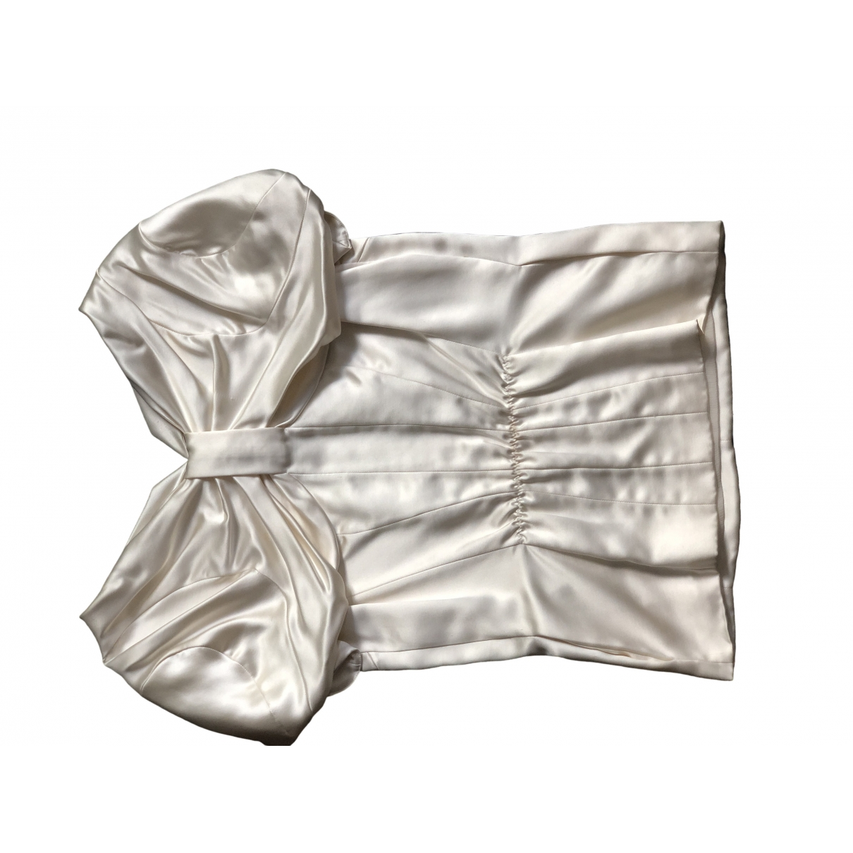 Louis Vuitton \N Ecru Silk  top for Women 36 FR